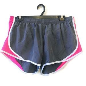 Soffe Pink & Gray Running Shorts Joggers LARGE